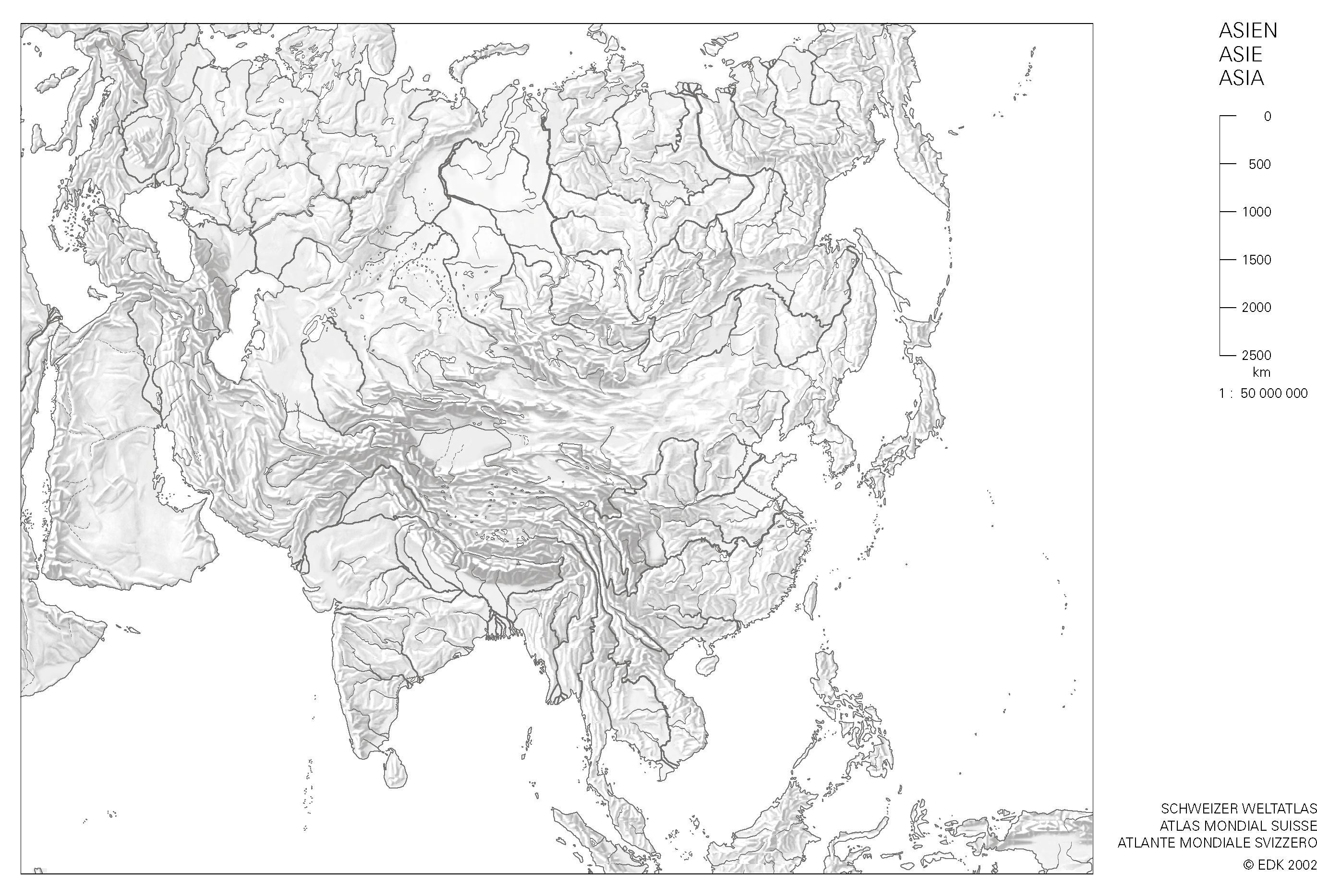 Stumme Karte Naher Osten.Staaten Im Nahen Osten Karte