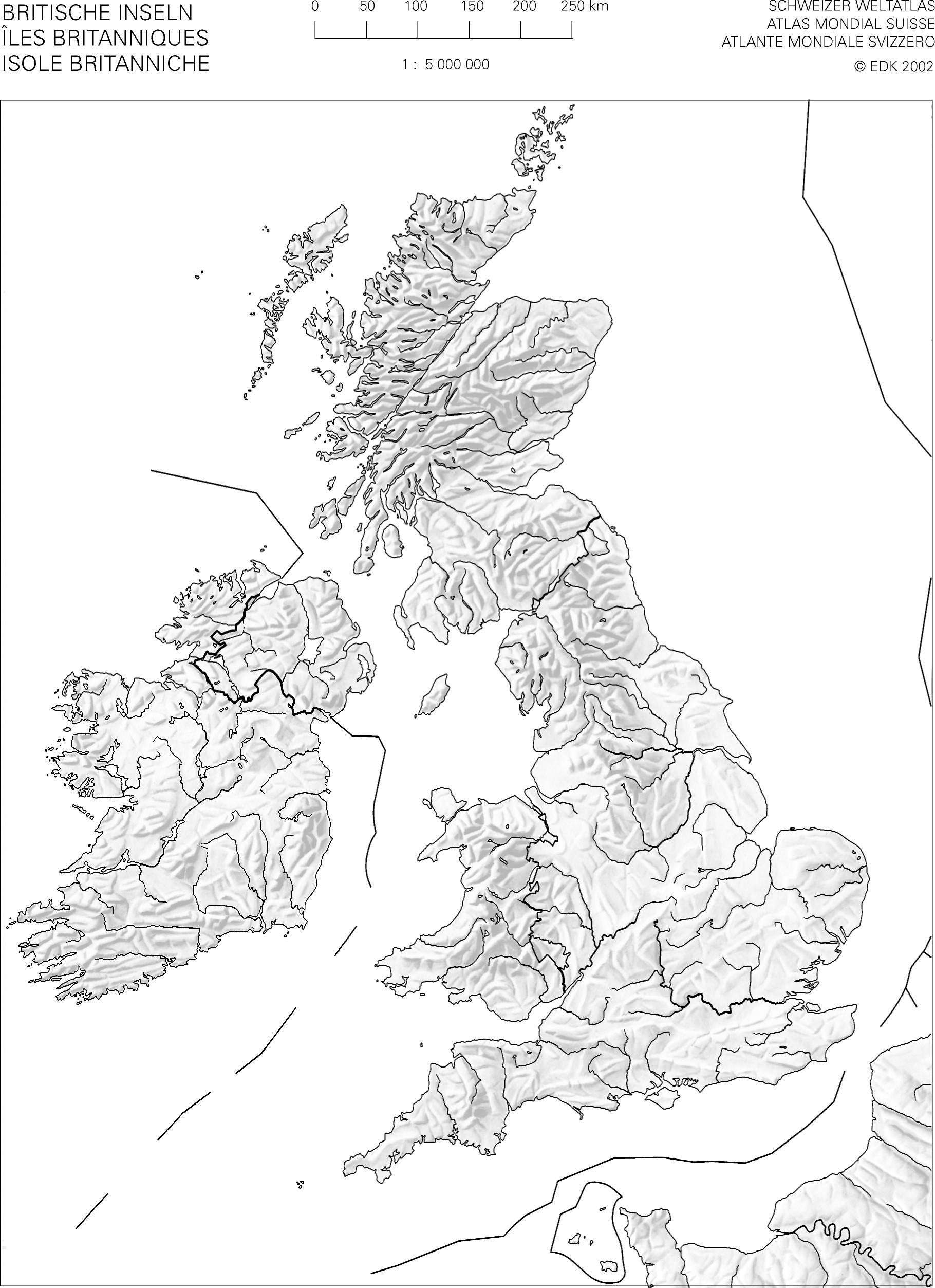 Cartina Muta Isole Britanniche.Swisseduc Geographie Atlas Kopiervorlagen