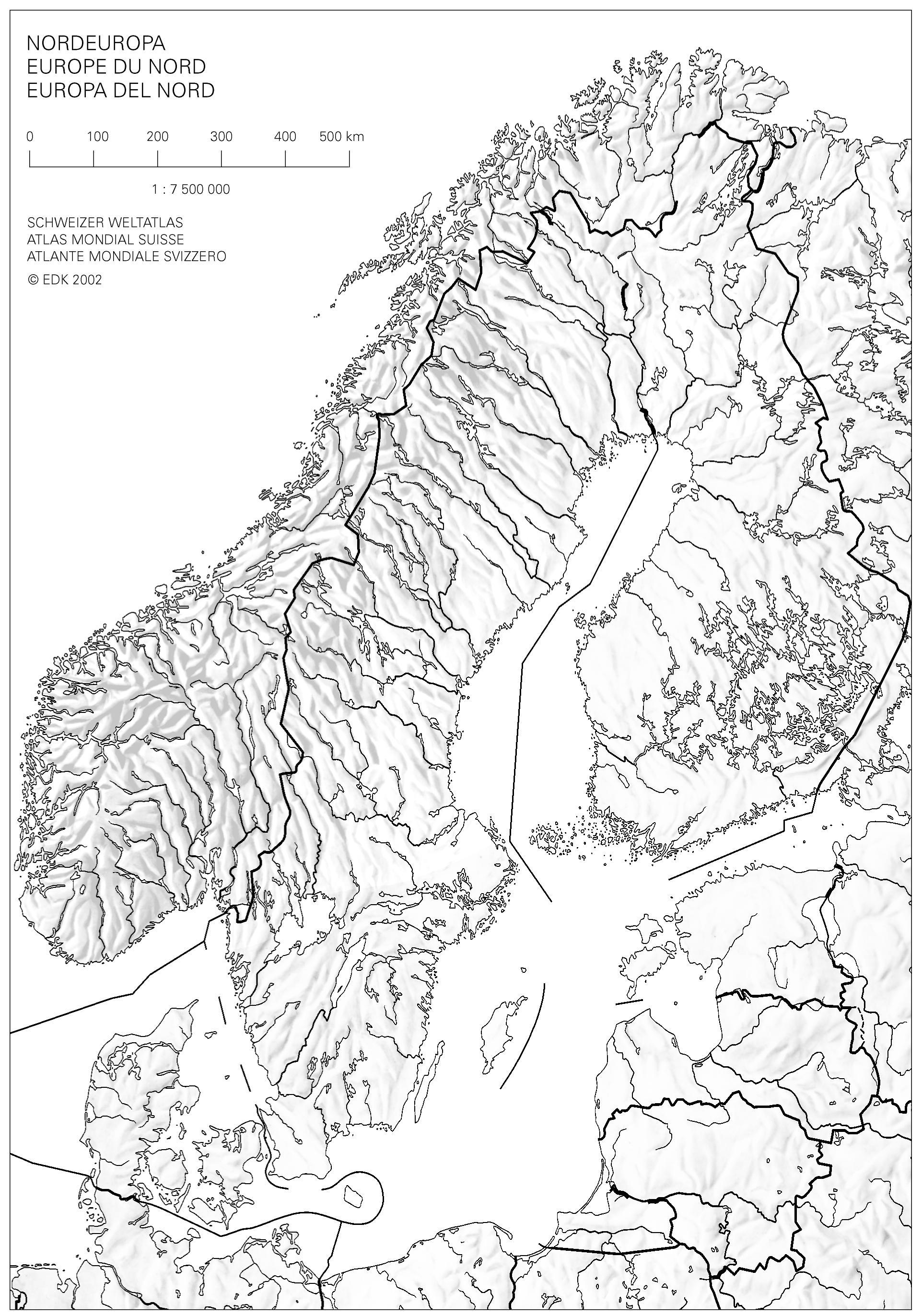 Cartina Muta Nord Europa.Swisseduc Geographie Atlas Kopiervorlagen