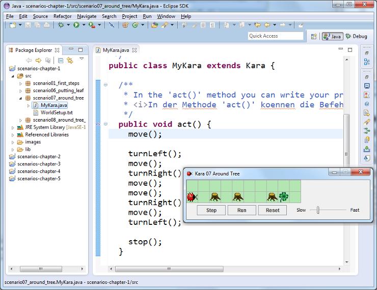 SwissEduc - Informatik - GameGridKara: Java lernen mit ... Javadoc Eclipse