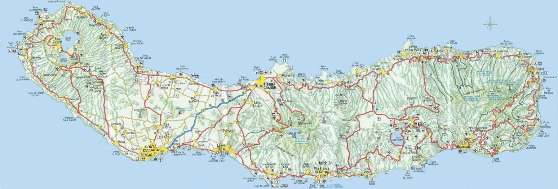 mapa sao miguel SwissEduc   Stromboli online   Azores mapa sao miguel