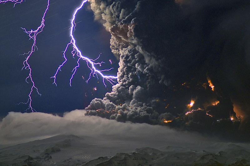 مرعبة لبركان آيسلند وكرة نارية